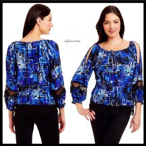 ECI Cold Shoulders Blouse
